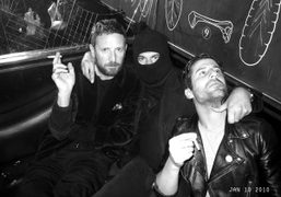 Stefano Pilati, Jean-Yves Lefur and André at Le Montana, Paris. Photo Olivier…