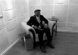 The cult artist Jack Walls at the opening of his show, The…