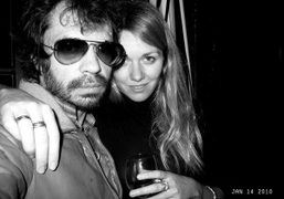 Olivier Zahm and Lauren Bastide at André & Lionel's apartment on rue…