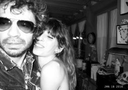 Lou Doillon and me on the shoot for the Repossi campaign I…