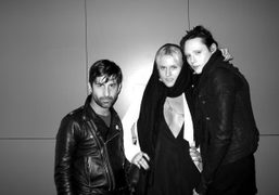 Andre Saraiva, Olympia Scarry, and Martin Cohn at the Adam Kimmel F/W…