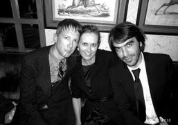 Jefferson Hack, Valerie Hermann and Olivier Lalanne at the Yves Saint Laurent…