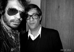 Olivier Zahm with Eric Troncy, the curator of Juergen Teller's new show…