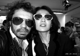 Olivier Zahm and Maggie Cheung after the Christian Dior S/S 2010 Couture…