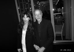 The french actress Maïween and Pascal Gregory the most elegant man in…