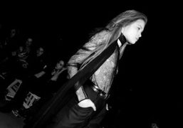 The look that stood out to me among a conventional Charlotte Ronson…