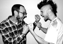Jared Leto's new mohawlk made by Terry Richardson, Bowery. Photo Terry Richardson