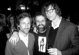 Spike Jonze, Ari Marcopoulos, and Thurston Moore at the Quicktake: Rodarte opening…