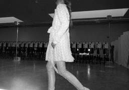 One look from the L'Wren Scott F/W 2010 collection presentation at Gagosian…