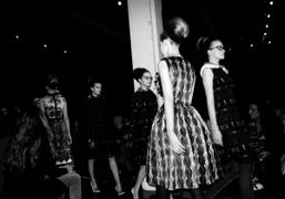 Curvy is trendy again, the Prada Fall/Winter 2010/11 collection, Milan. Photo Olivier…