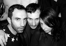 Riccardo Tisci, Luigi Murenu, and Camille Bidault Waddington at the Givenchy F/W…