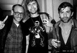 Terry Richardson, Pedro Winter (and his Terry T-shirt) and André Saraiva at…
