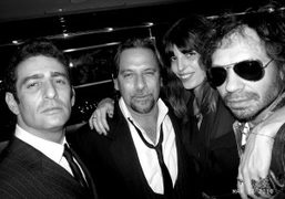 Jeffrey Jah, Sante D'Orazio, Lou Doillon and me at the launch of…