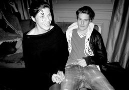 Agathe Snow and Nate Lowman at Anatole Shagalov's appartement, New York. Photo…