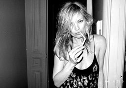 A beautiful portrait of Kate Moss taken by Terry after YSL show…