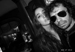 Natacha Ramsay and me at the Normandy Hotel, Deauville. Photo Olivier Zahm