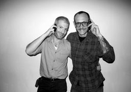 Mel Ottenberg and Terry Richardson at the Purple Office, New York. Photo…
