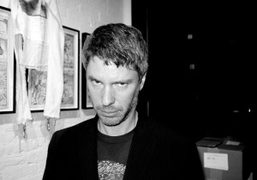 John Mcwhinnie during Kim Gordon's opening of The Noise Paintings, at John…