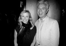 Cindy Sherman and David Byrne at the 10th anniversary of the Art…