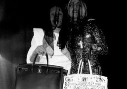 Terence Koh and Lady Gaga with their Birkin bags, Tokyo. Photo Terence…