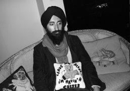 waris Ahluwalia having a crisis, at Hanna Liden's dinner after her opening,…