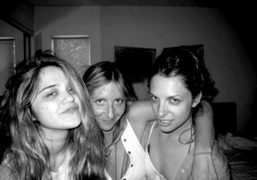 Young pop star Sky Ferreira with Chrissie Miller and Madeleine Von Froomer…