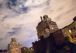 The view from the terrace at Waris Ahluwalia's apartment, New York. Photo…