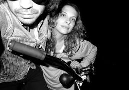 Olivier Zahm and Madeleine von Froomer outside the Jane Hotel, New York….
