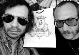 Olivier Zahm and Terry Richardson outside Coco de Mer, New York. Photo…