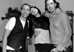 Ben Grimes with Rag & Bone's Marcus Wainwright and David Neville, London….
