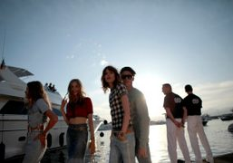 Freja Beha and Baptiste Giabiconi arriving on a Riva at the 2011…