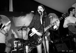 Coco Sumner performing at the Martini Bar, Cannes. Photo Olivier Zahm
