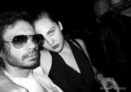 Olivier Zahm and Caroline Gaimari after the Chanel dinner at VIP Room,…
