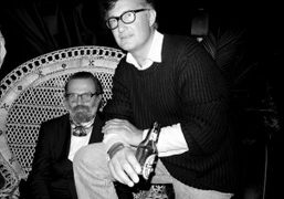 The editor of Uomo Vogue Robert Rabensteiner and Massimo at the Replay…