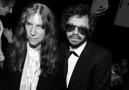 Patti Smith and Olivier Zahm at the Amfar Gala Dinner at the…