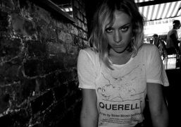Lunch with Chloe Sevigny in her Fassbinder T-shirt, Cafe Orlin, New York….