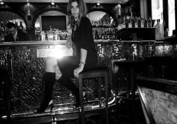 Carine Roitfeld and her Cesar mini compression necklace at Le Bar du…