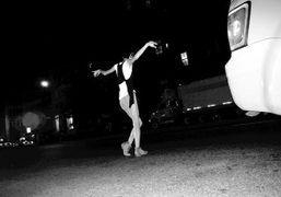 Dancing in the middle of the Bowery outside Gemma, New York. Photo…