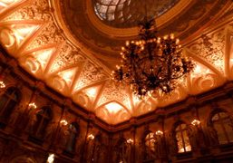 The chandelier at the Salon Opera of the Hotel Intercontinental at the…