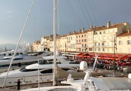 The view of Saint Tropez from the Louis Vuitton yacht. Photo Olivier…