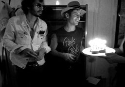 Andre Saraiva's birthday party at the Fidelité apartment, Paris. Photo Jennifer Eymere