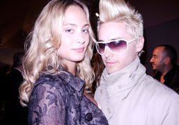 Nora Arnezeder and Jared Leto at the Dior F/W 2010 Couture Show,…
