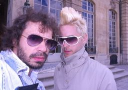 Purple glasses on Olivier Zahm and Jared Leto at the Dior F/W…