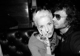 Daphne Guinness and me at the Standard Grill, New York. Photo Olivier…