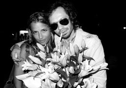 The fashion designer Charlotte Ronson and Olivier Zahm at Bar Pitti for…
