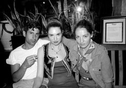 André Saraiva, Dakota Goldhor and Jennifer Eymere outside of Raouls, Prince Street,…