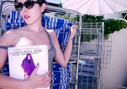 Paula Goldstein reading the new Purple Fashion featuring Chloe Sevigny on the…