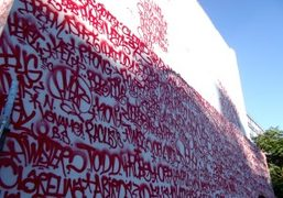 Taking over the location of Shepard Fairey's defaced mural, artist Barry McGee…