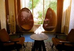 Two Love Seats at The Parker in Palm Springs. Text and Photo…