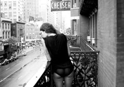 Dawn Dunning of the Bambi Killers at the Chelsea Hotel, New York….